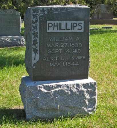 PHILLIPS, WILLIAM A. - Lancaster County, Nebraska   WILLIAM A. PHILLIPS - Nebraska Gravestone Photos