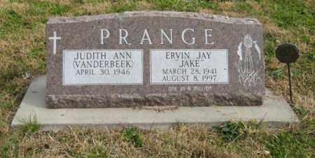 PRANGE, ERVIN JAY - Lancaster County, Nebraska | ERVIN JAY PRANGE - Nebraska Gravestone Photos