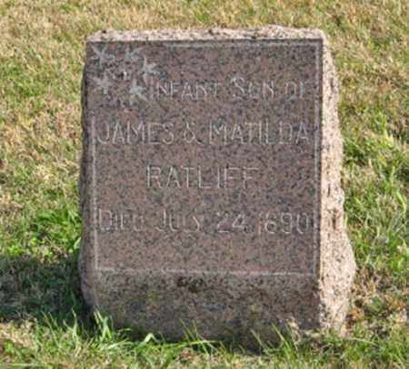 RATLIFF, INFANT SON OF JAMES & MATILDA - Lancaster County, Nebraska | INFANT SON OF JAMES & MATILDA RATLIFF - Nebraska Gravestone Photos
