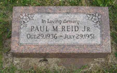 REID, JR., PAUL M. - Lancaster County, Nebraska   PAUL M. REID, JR. - Nebraska Gravestone Photos