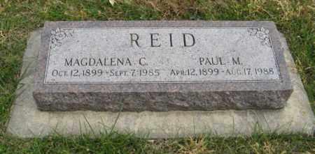 REID, MAGDALENA C. - Lancaster County, Nebraska   MAGDALENA C. REID - Nebraska Gravestone Photos