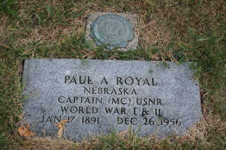 ROYAL, PAUL A - Lancaster County, Nebraska | PAUL A ROYAL - Nebraska Gravestone Photos