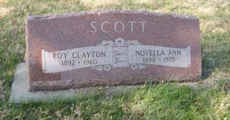 SCOTT, ROY CLAYTON - Lancaster County, Nebraska | ROY CLAYTON SCOTT - Nebraska Gravestone Photos
