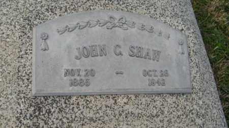 SHAW, JOHN C. - Lancaster County, Nebraska | JOHN C. SHAW - Nebraska Gravestone Photos