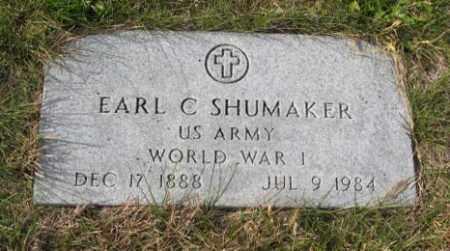SHUMAKER, EARL C. - Lancaster County, Nebraska | EARL C. SHUMAKER - Nebraska Gravestone Photos