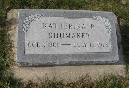 SHUMAKER, KATHERINA P. - Lancaster County, Nebraska | KATHERINA P. SHUMAKER - Nebraska Gravestone Photos
