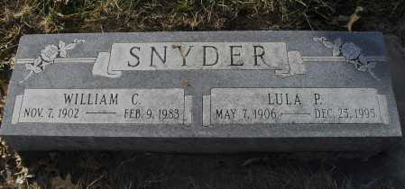 SNYDER, LULA P - Lancaster County, Nebraska | LULA P SNYDER - Nebraska Gravestone Photos