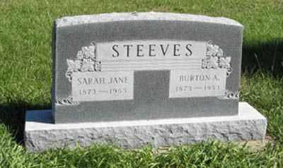 STEEVES, SARAH JANE - Lancaster County, Nebraska | SARAH JANE STEEVES - Nebraska Gravestone Photos