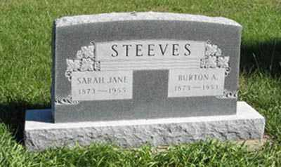 STEEVES, SARAH JANE - Lancaster County, Nebraska   SARAH JANE STEEVES - Nebraska Gravestone Photos