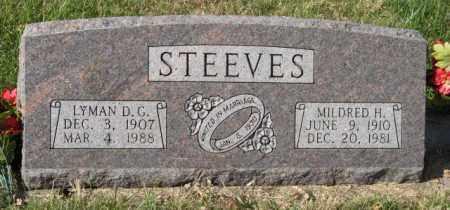 STEEVES, LYMAN D. G. - Lancaster County, Nebraska | LYMAN D. G. STEEVES - Nebraska Gravestone Photos
