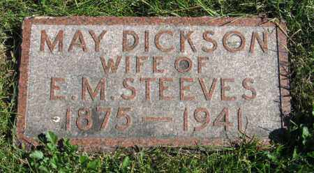 DICKSON STEEVES, MAY - Lancaster County, Nebraska | MAY DICKSON STEEVES - Nebraska Gravestone Photos