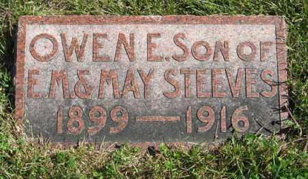 STEEVES, OWEN E. - Lancaster County, Nebraska | OWEN E. STEEVES - Nebraska Gravestone Photos