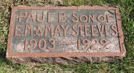 STEEVES, PAUL B. - Lancaster County, Nebraska | PAUL B. STEEVES - Nebraska Gravestone Photos