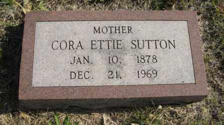 SUTTON, CORA ETTIE - Lancaster County, Nebraska | CORA ETTIE SUTTON - Nebraska Gravestone Photos