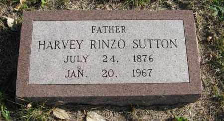 SUTTON, HARVEY RINZO - Lancaster County, Nebraska | HARVEY RINZO SUTTON - Nebraska Gravestone Photos
