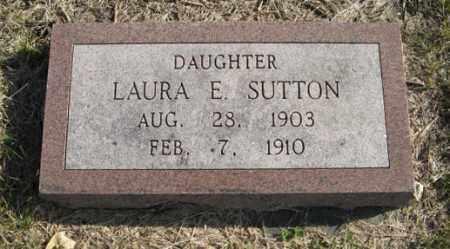 SUTTON, LAURA E. - Lancaster County, Nebraska | LAURA E. SUTTON - Nebraska Gravestone Photos