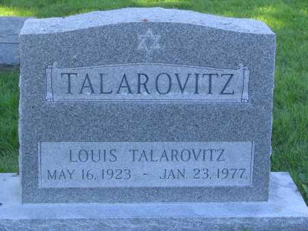 TALAROVITZ, LOUIS - Lancaster County, Nebraska | LOUIS TALAROVITZ - Nebraska Gravestone Photos