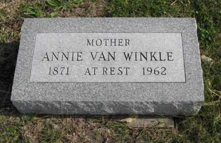 VAN WINKLE, ANNIE - Lancaster County, Nebraska   ANNIE VAN WINKLE - Nebraska Gravestone Photos