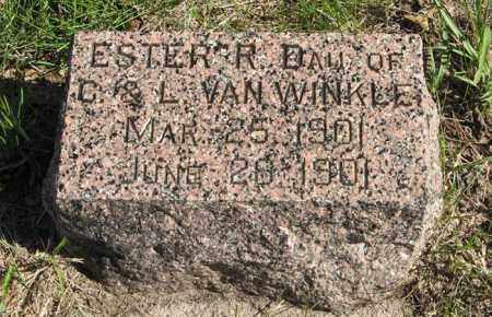 VAN WINKLE, ESTER R. - Lancaster County, Nebraska | ESTER R. VAN WINKLE - Nebraska Gravestone Photos