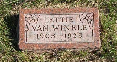 VAN WINKLE, LETTIE - Lancaster County, Nebraska   LETTIE VAN WINKLE - Nebraska Gravestone Photos