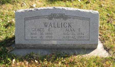 WALLICK, GRACE E. - Lancaster County, Nebraska   GRACE E. WALLICK - Nebraska Gravestone Photos