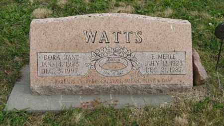 WATTS, DORA JANE - Lancaster County, Nebraska | DORA JANE WATTS - Nebraska Gravestone Photos