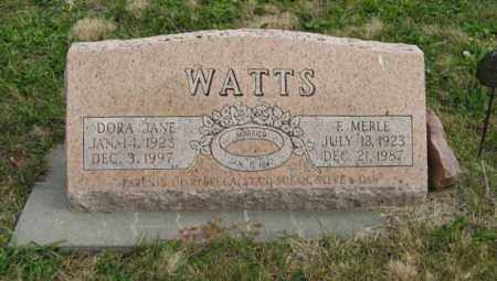 WATTS, F. MERLE - Lancaster County, Nebraska | F. MERLE WATTS - Nebraska Gravestone Photos