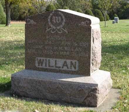 WILLAN, JANE - Lancaster County, Nebraska | JANE WILLAN - Nebraska Gravestone Photos
