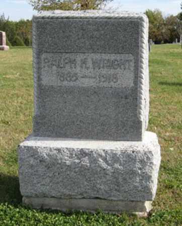 WRIGHT, RALPH H. - Lancaster County, Nebraska | RALPH H. WRIGHT - Nebraska Gravestone Photos