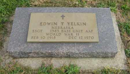 YELKIN, EDWIN T. - Lancaster County, Nebraska | EDWIN T. YELKIN - Nebraska Gravestone Photos