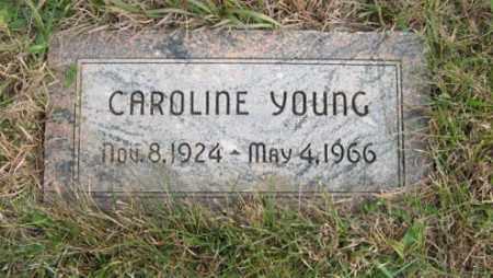 YOUNG, CAROLINE - Lancaster County, Nebraska | CAROLINE YOUNG - Nebraska Gravestone Photos