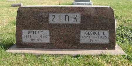 ZINK, GEORGE H. - Lancaster County, Nebraska | GEORGE H. ZINK - Nebraska Gravestone Photos