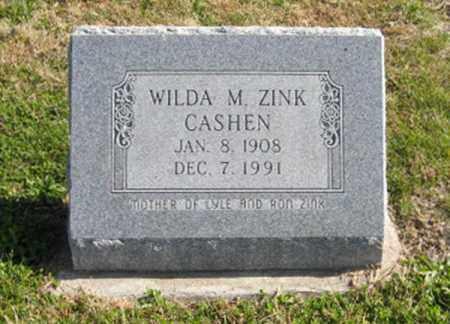 ZINK, WILDA M. - Lancaster County, Nebraska | WILDA M. ZINK - Nebraska Gravestone Photos