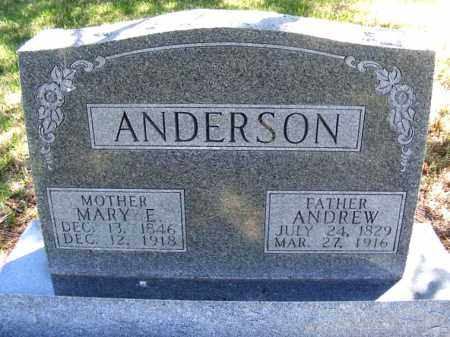 ANDERSON, MARY E. - Lincoln County, Nebraska | MARY E. ANDERSON - Nebraska Gravestone Photos