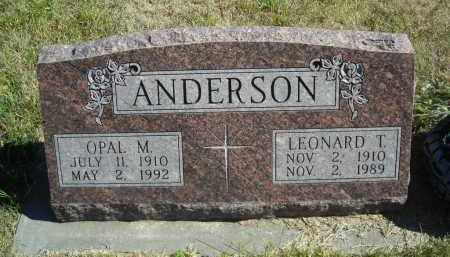 ANDERSON, LEONARD T. - Lincoln County, Nebraska   LEONARD T. ANDERSON - Nebraska Gravestone Photos