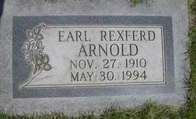 ARNOLD, EARL REXFERD - Lincoln County, Nebraska | EARL REXFERD ARNOLD - Nebraska Gravestone Photos