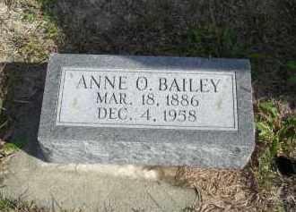 BAILEY, ANNE O. - Lincoln County, Nebraska   ANNE O. BAILEY - Nebraska Gravestone Photos