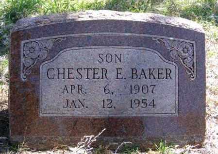 BAKER, CHESTER E. - Lincoln County, Nebraska   CHESTER E. BAKER - Nebraska Gravestone Photos
