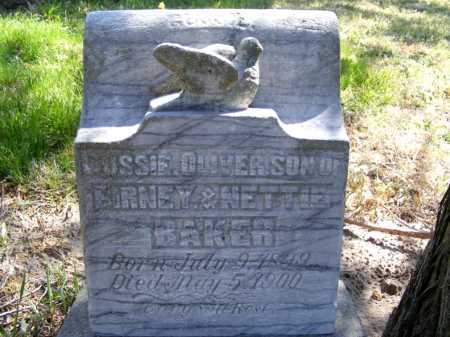 BAKER, GUSSIE OLIVER - Lincoln County, Nebraska | GUSSIE OLIVER BAKER - Nebraska Gravestone Photos