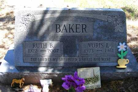 BAKER, VORIS L. - Lincoln County, Nebraska | VORIS L. BAKER - Nebraska Gravestone Photos