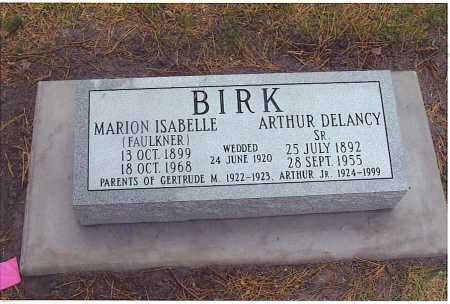 FAULKNER BIRK, MARION ISABELLE - Lincoln County, Nebraska | MARION ISABELLE FAULKNER BIRK - Nebraska Gravestone Photos