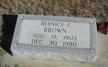 BROWN, BERNICE E. - Lincoln County, Nebraska | BERNICE E. BROWN - Nebraska Gravestone Photos