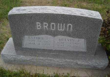 BROWN, ESTHER - Lincoln County, Nebraska   ESTHER BROWN - Nebraska Gravestone Photos