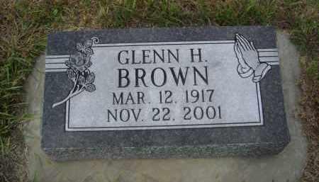 BROWN, GLENN H. - Lincoln County, Nebraska   GLENN H. BROWN - Nebraska Gravestone Photos