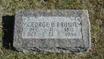BROWN, GEORGE D. - Lincoln County, Nebraska | GEORGE D. BROWN - Nebraska Gravestone Photos
