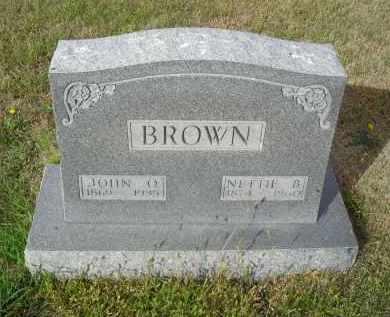 BROWN, JOHN O - Lincoln County, Nebraska   JOHN O BROWN - Nebraska Gravestone Photos