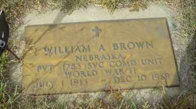 BROWN, WILLIAM A. - Lincoln County, Nebraska | WILLIAM A. BROWN - Nebraska Gravestone Photos