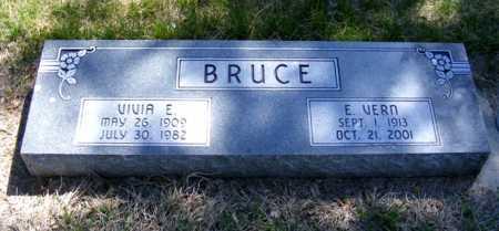 BRUCE, E. VERN - Lincoln County, Nebraska | E. VERN BRUCE - Nebraska Gravestone Photos