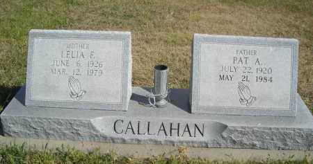 CALLAHAN, LELIA F - Lincoln County, Nebraska | LELIA F CALLAHAN - Nebraska Gravestone Photos