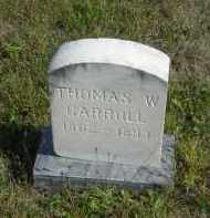 CARROLL, THOMAS W. - Lincoln County, Nebraska | THOMAS W. CARROLL - Nebraska Gravestone Photos